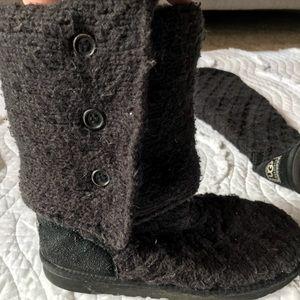 374d251d31a Ugg Black Crochet Boots